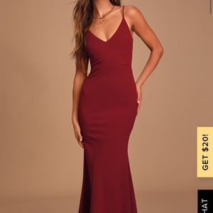 Lulu's Infinite Glory Wine Maxi Dress